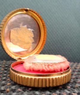 Brass Ar Deco Makeup Blush Compac w Mirror Bourjois Rouge