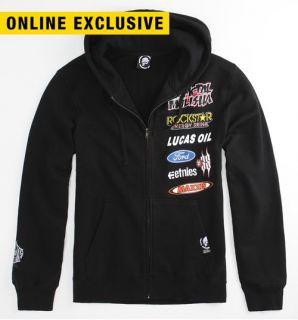 Metal Mulisha Black Brian Deegan Replica Fleece Hoodie Sweatshirt M