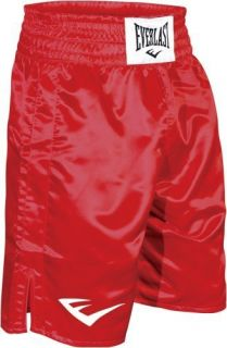 Everlast Boxing Trunks Shorts Solid Red New Bottom of Knee
