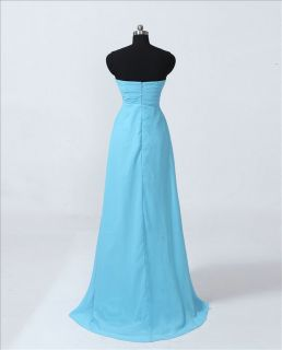 Chiffon Evening Prom Ball Bridesmaid Dresses Size Color Custom