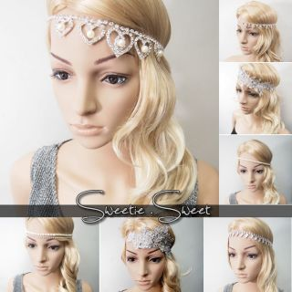 Diamante Bling Crystal Wedding Hair Band Bridal Bride Headband Tiara