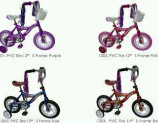 Girls or Boys 12 inch Bicycle with Training Wheels Bike