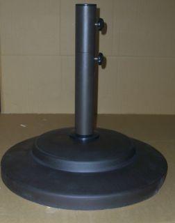 CAST IRON OUTDOOR PATIO UMBRELLA BASE / STAND W/ WHEELS