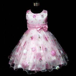 GBP3211 12 Pinks Halloween Wedding Party Flower Girls Dresses Sz 3 4 5