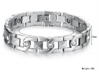 JB15 Men Magnet Health Stainless Steel Charm Bracelet