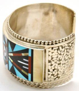 Zuni Multi Stone Sterling Silver Bracelet Ricky Vacit
