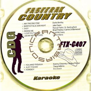 Country Music Karaoke CD Fast Trax FTX 407 CDG 2011 Artist Songs Paper