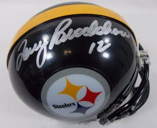 Authentic Terry Bradshaw Autographed Mini Pittsburgh Steelers Helmet w