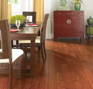 Handscraped Maple Nutmeg Engineered Hardwood Flooring Wood Floor