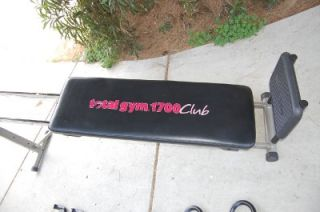 Total Gym 1700 Club Chuck Norris Christie Brinkley Home Gym
