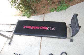 Total Gym 1700 Club Chuck Norris Christie Brinkley Home Gym