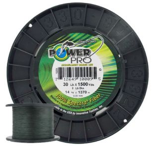 PowerPro Spectra Braided Fishing Line 30lb 1500yd Green