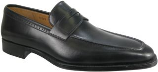 New $198 Magnanni 12325 Brino Penny Mens Loafer Shoes Size 9 Black