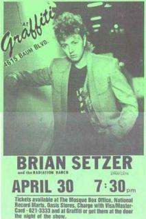 Brian Setzer Live at Graffiti Concert Poster Print Very Limited RARE