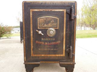 Barnes Safe & Lock Co. Pittsburg Pa. Antique Safe
