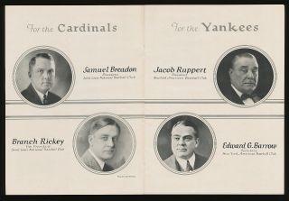 The Finest 1926 World Series Program Yankees vs Cardinals