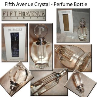 Crystal Monogrammed Letter Perfume Bottle Brand New in The Box
