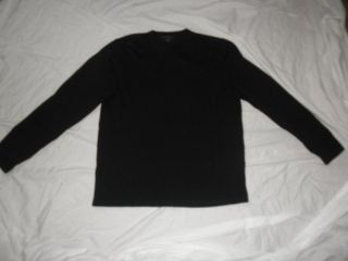 Express Mens 100% Merino Wool Sweater SIZE L Black Crewneck Perfect