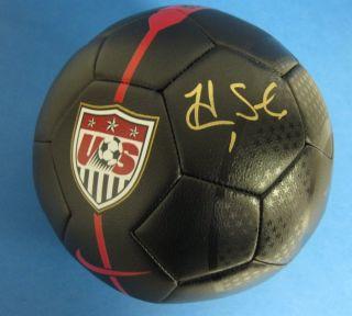 Hope Solo Autographed Signed Nike USA Soccer Ball Black JSA