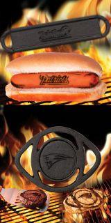 New England Patriots Hamburger Brander + Hot Dog Brander COMBO