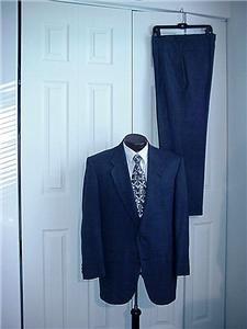 30 Sharp s Biella Italian Navy Blue Mens Business Suit Sz 42
