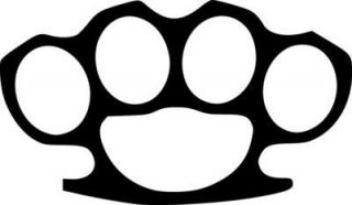 Brass Knuckles Vinyl Sticker Decal JDM Choose Size and Color