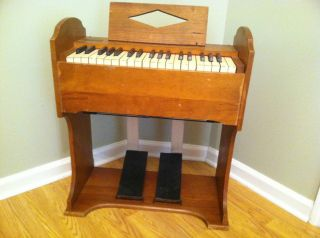 Organ Pump Childs Keyboard Piano Music Instrument Brattleboro Etsey