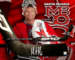 Martin Brodeur Signed Sher Wood Player Brand Stick