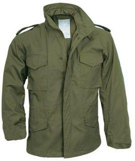 65 Field Jacket Olive Drab Green Army USMC Seabees LG