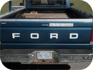 Ford Pickup Truck Fleetside Bronco Tailgate Vinyl Letters Decal Rear