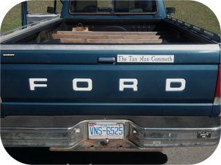 Ford Pickup Truck Fleetside Bronco Tailgate Vinyl Letters Decal Rear