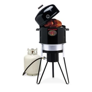 Brinkmann All in One Gas and Charcoal Single Burner Smoker and Grill