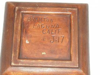 Brayton Laguna California Pottery White Bird GOOSE Peacock Square Bowl