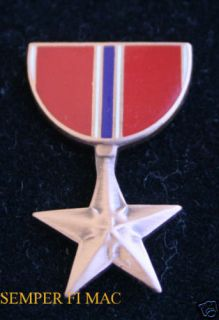 Bronze Star Medal Hat Pin Marines Army Air Force Navy