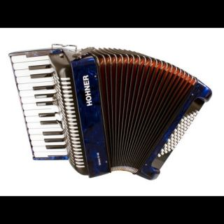 NEW HOHNER PIANO ACCORDION BRAVO II BLUE TREMOLO 26/48 BASS ACCORDIAN