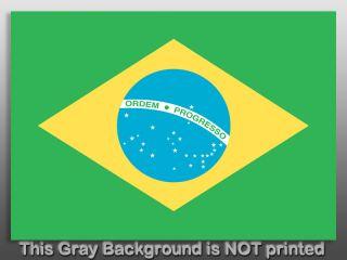 brazil flag sticker size 3 high x 5 wide 76mm x 128mm application how