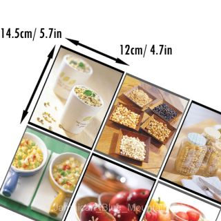 Breakfast Food PVC Wall Kitchen Cabinet Glass Doors Sticker Decal