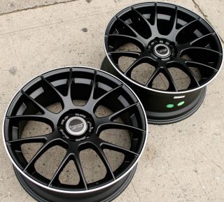 Bremmer Kraft BRO5 19 Black Rims Wheels Nissan 350Z Staggered 19 x 8