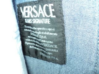 VERSACE JEANS SIGNATURE MENS BLUE DENIM JEANS ~31 MADE IN ITALY ~ MINT