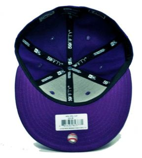 59FIFTY HAT MLB BASEBALL CAP BROOKLYN DODGERS DEEP PURPLE WHITE SMALL