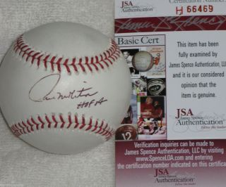 PAUL MOLITOR SIGNED AUTO BREWERS BLUE JAYS TWINS HOF 04 BASEBALL JSA