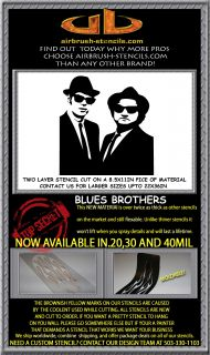 Blues Brothers Airbrush Stencil Template Motorcycle Chopper Paint New