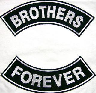 Brothers Forever Biker Embroidered Rocker Patch Set 11