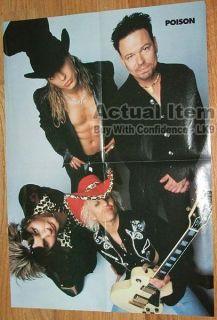 Huge 4 Page Poster Twiggy Ramirez Poison Bret Michaels LK9