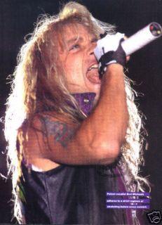 Poison Bret Michaels Pinup Ad Hair Metal 80s L A Rock