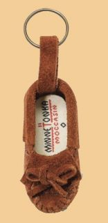 Miniature Moccasin Keychain Key Ring Brown Free US Shipping