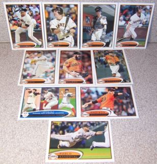 2012 Topps Series 1 Team Set San Francisco Giants 10