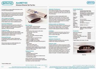 Amino AMINET103 IPTV Ethernet Set Top Box SEALED Kits