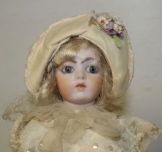 Bru JNE One Doll Repro with Stand Marked Bru JNE 8