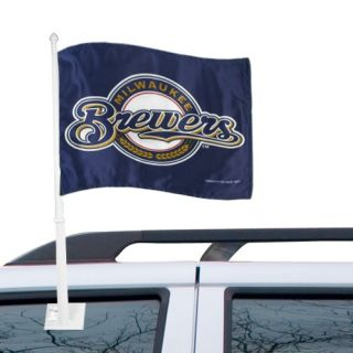 click an image to enlarge milwaukee brewers 11 x 15 navy blue car flag